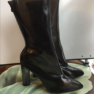 TASHA PERSPEX CLEAR BOOTS BY EGO SIZE 8
